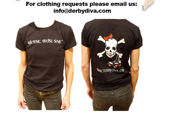 For clothing requests please email us info@derbydiva.com